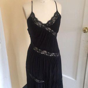 Lowback Lace Panel Dress